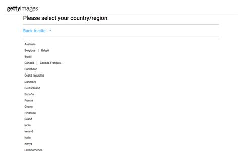 Please select your country/region. | Getty Images