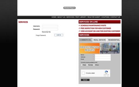 Screenshot of Login Page asianpests.com - Asian Pest Services - Login - captured Nov. 19, 2016
