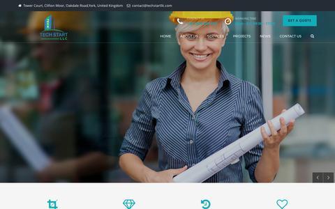 Screenshot of Home Page techstartllc.com - Tech Start LLC | Tech Start USA | Tech Start UK - Techstartllc - captured June 12, 2017