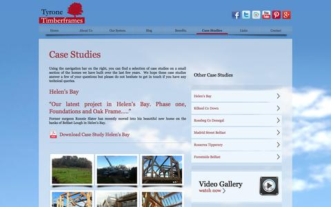 Screenshot of Case Studies Page tyronetimberframes.com - Gallery from Tyrone Timberframes beautiful homes - captured Oct. 6, 2014