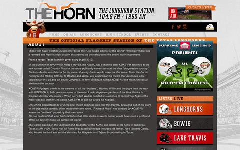 Screenshot of About Page hornfm.com - About - The Horn  The Horn - captured Dec. 6, 2015