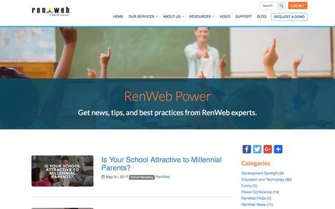 Screenshot of Blog renweb.com - Blog - RenWeb - captured June 13, 2017