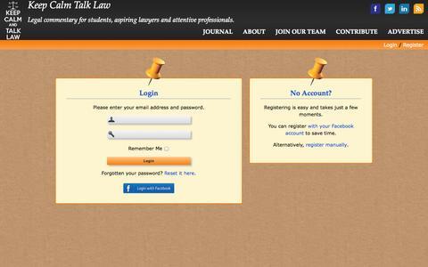 Screenshot of Login Page keepcalmtalklaw.co.uk - Login - Keep Calm Talk Law - captured Sept. 30, 2014