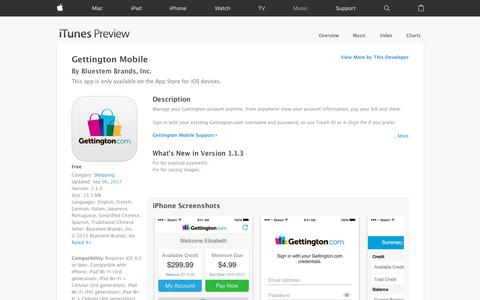 Gettington Mobile on the App Store
