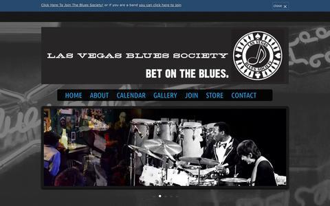Screenshot of Home Page lasvegasblues.org - Las Vegas Blues Society - Blues in Las Vegas - captured Oct. 2, 2014