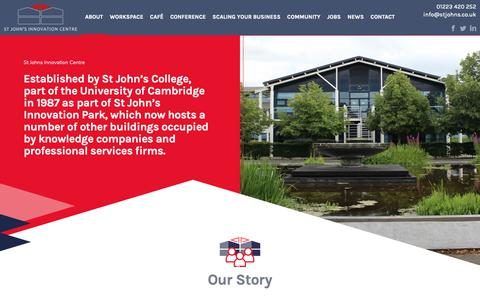 Screenshot of About Page stjohns.co.uk - About - St Johns Innovation Centre - captured Oct. 19, 2018