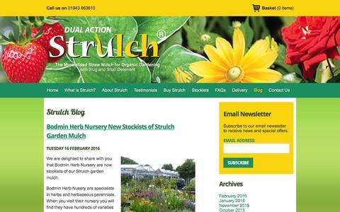 Screenshot of Blog strulch.co.uk - Blog   Strulch - captured Feb. 25, 2016