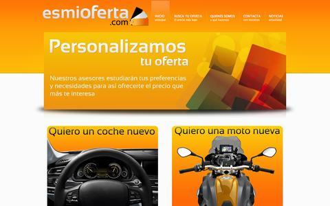 Screenshot of Home Page esmioferta.com - Esmioferta - captured Oct. 2, 2014