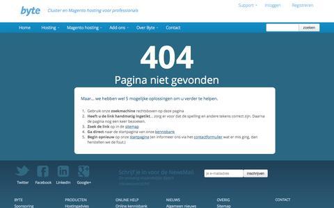 Screenshot of Site Map Page byte.nl - Whoops! We kunnen de pagina voor u niet vinden. Sorry - Byte - captured Sept. 18, 2014