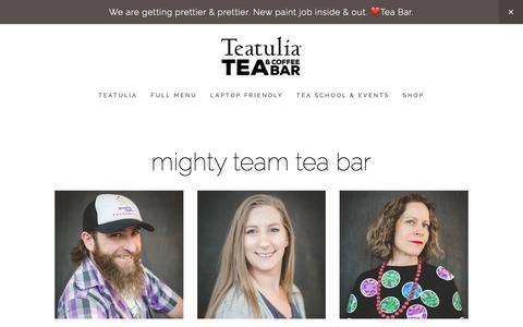 Screenshot of Team Page teabardenver.com - team — Teatulia Tea & Coffee Bar - captured Oct. 18, 2018