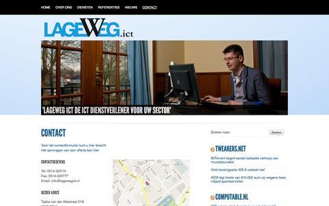 Screenshot of Contact Page lagewegict.nl - Lageweg ICT   » Contact - captured Sept. 27, 2014