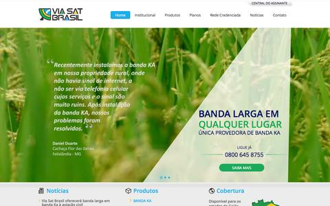 Screenshot of Home Page viasatbrasil.com.br - Via Sat Brasil - captured Sept. 30, 2014