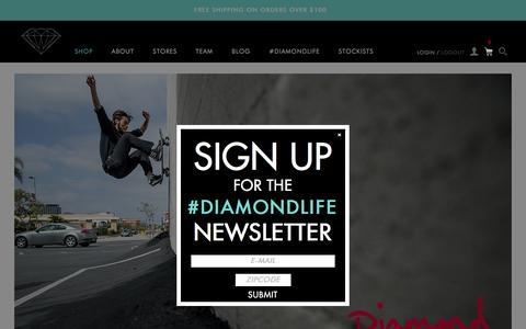 Screenshot of Home Page diamondsupplyco.com - Diamond Supply Co l Official Store - captured Dec. 7, 2015