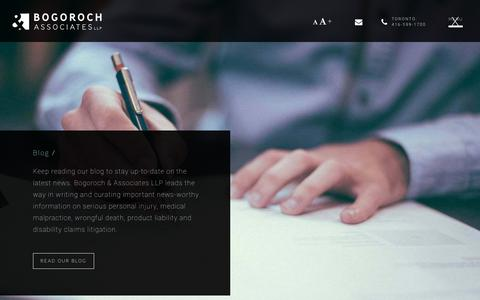 Screenshot of Blog bogoroch.com - Blog - Bogoroch & Associates LLP - captured Oct. 10, 2017