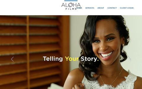Screenshot of Home Page alohafilms.com - Aloha Films - captured Oct. 3, 2018