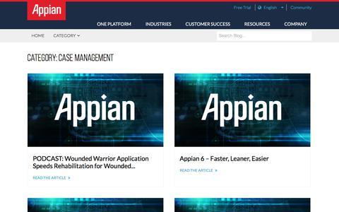 Screenshot of Case Studies Page appian.com - Case Management Archives - Page 8 of 9 - Appian Blog - captured June 25, 2018