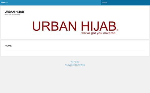 Screenshot of Home Page urbanhijab.com - URBAN HIJAB - Modern Modest Clothing Options We've Got You Covered - captured Dec. 4, 2019