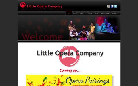Screenshot of Home Page littleopera.ca - Little Opera Company - captured Jan. 31, 2016