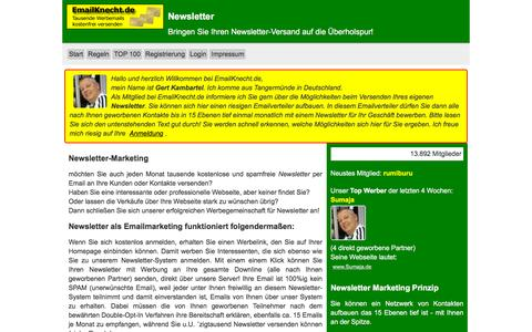 Screenshot of Home Page emailknecht.de - Newsletter - captured Nov. 23, 2015