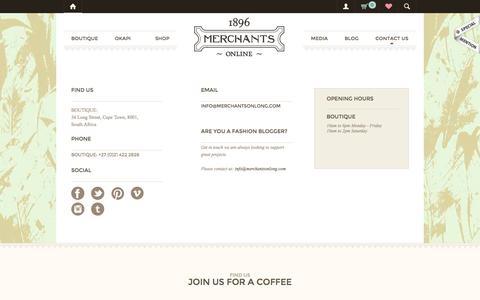 Screenshot of Contact Page merchantsonlong.com - Contact us - Merchants on Long - captured Oct. 27, 2014