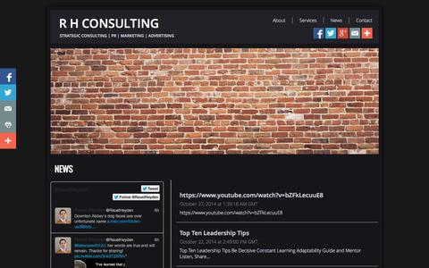 Screenshot of Press Page rhconsulting.info - News - captured Oct. 28, 2014