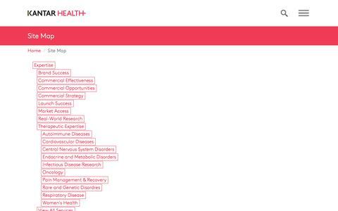 Site Map | Kantar Health