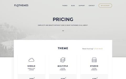 Screenshot of FAQ Page flothemes.com - Pricing | Flothemes - captured Oct. 29, 2014
