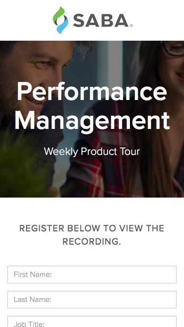Product Tour - Performance Management