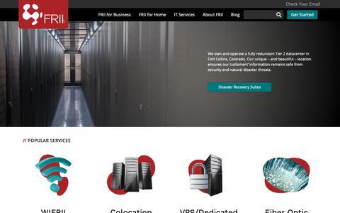 Screenshot of Home Page frii.com - Home | FRII - captured Oct. 11, 2018