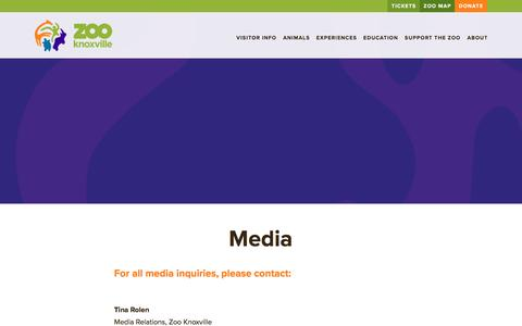 Screenshot of Press Page zooknoxville.org - Media   Zoo Knoxville - captured Jan. 15, 2017