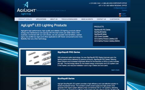 Screenshot of Products Page agilight.com - Product   Agilight - captured Feb. 5, 2016