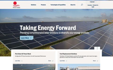 Screenshot of Login Page firstsolar.com - Vertically Integrated Utility-Scale PV Power Solutions Provider | First Solar - captured Oct. 30, 2014