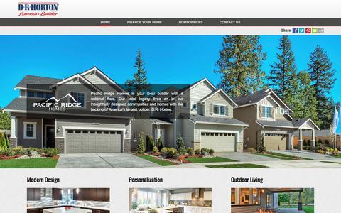 Screenshot of drhorton.com - Pacific Ridge Homes | Modern Design - captured Dec. 9, 2016