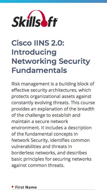 Cisco IINS 2.0: Introducing Networking Security Fundamentals