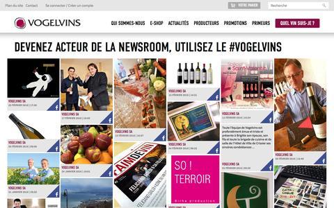 Screenshot of Press Page vogel-vins.ch - Devenez acteur de la newsroom, utilisez le #vogelvins   Vogel Vins - captured Feb. 23, 2016