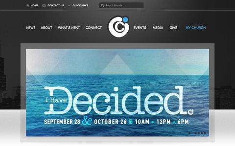 Screenshot of Home Page citychurchchicago.com - City Church Chicago - captured Sept. 29, 2014
