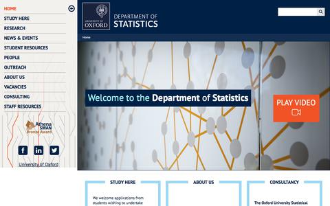 Department of Statistics, University of Oxford