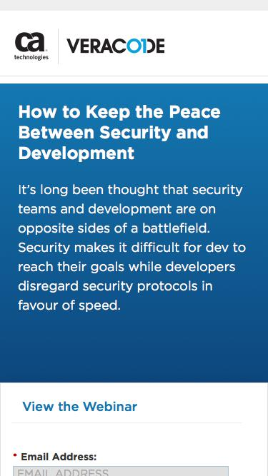 How to Keep the Peace Between Security and Development   Veracode
