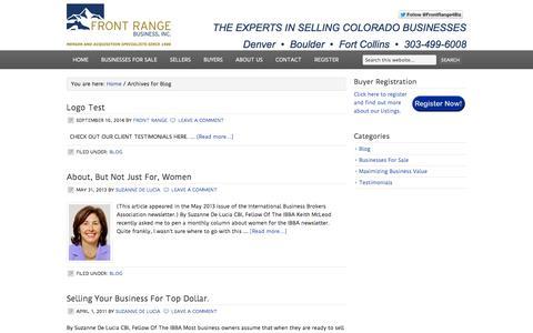 Screenshot of Blog frontrangebusiness.com - Blog - captured Sept. 19, 2014