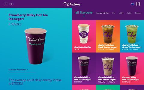 Screenshot of Menu Page chatime.com.au - Drinks Archive ~ Chatime Australia - captured July 17, 2018