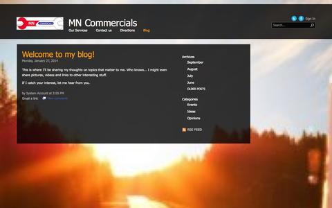 Screenshot of Blog mncommercialsltd.com - Blog - captured Sept. 30, 2014