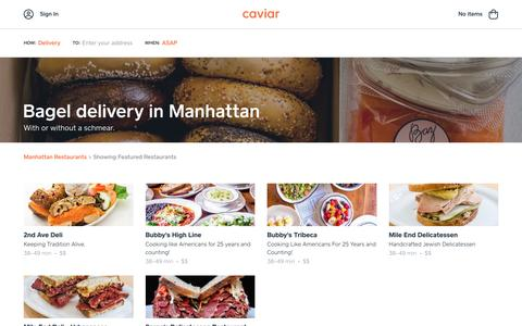 Bagel delivery in Manhattan | Caviar
