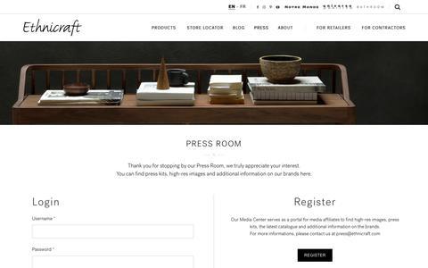 Screenshot of Press Page ethnicraft.com - Press - Ethnicraft - captured May 11, 2017