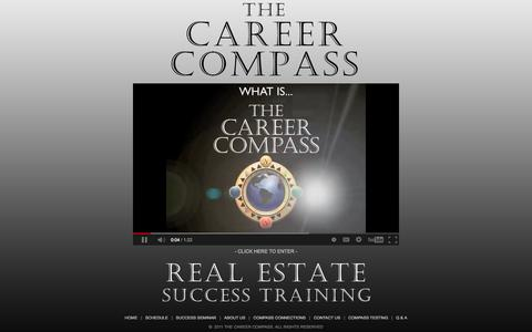 Screenshot of Home Page thecareercompass.com - THE CAREER COMPASS - The Award-Winning Real Estate Success Seminar - captured Oct. 7, 2014