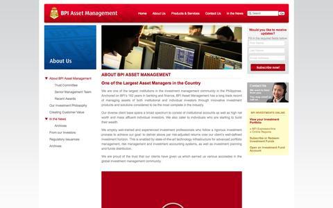 Screenshot of About Page bpiassetmanagement.com - ABOUT BPI ASSET MANAGEMENT - captured Oct. 31, 2014