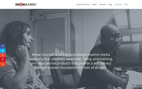 Screenshot of About Page knowyourself.com - Know Us - Know Yourself - captured Feb. 12, 2016