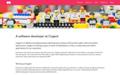 Screenshot of Developers Page cogent.co - Cogent - captured Dec. 10, 2015