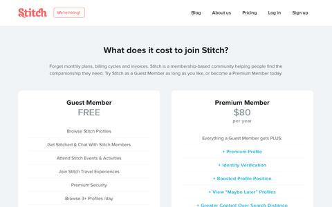 Screenshot of Pricing Page stitch.net - Stitch Pricing - captured Nov. 5, 2015