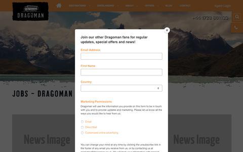 Screenshot of Jobs Page dragoman.com - Jobs - Dragoman Overland - captured Aug. 8, 2018