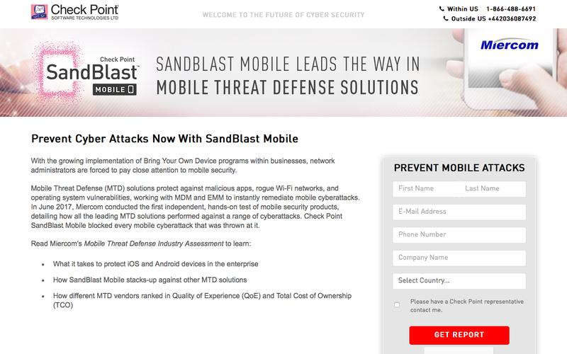 SandBlast Mobile leads the way in mobile threat defense solutions | Check Point Software